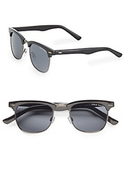 Cole Haan 54Mm Rectangle Sunglasses Black