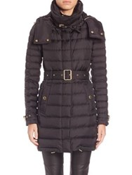 Burberry Belted Puffer Coat Black