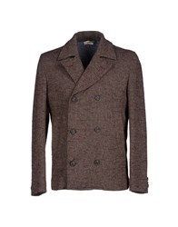 True Tradition Suits And Jackets Blazers Men Dark Brown