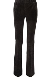 Theory Ilayda Suede Flared Pants Black