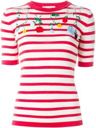 Vivetta 'Venera' Striped Embroidered Sweater