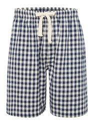 Howick Gingham Poplin Sleep Short Navy