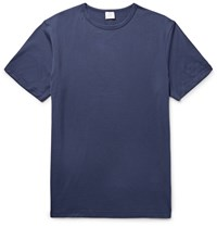 Sunspel Cotton Jersey T Shirt Blue
