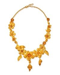 Valentino Golden Garden Party Statement Necklace Gold