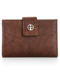 Giani Bernini Wallet Sandalwood Leather Wallet Brown