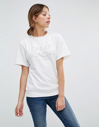 Cheap Monday Block Sweatshirt Dirty White