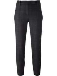 Brunello Cucinelli Glenchek Trousers Grey