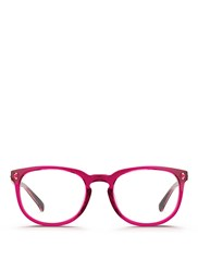 Linda Farrow Keyhole Bridge Acetate Optical Glasses Pink