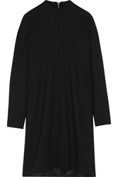 Rick Owens Moody Wool Crepe Mini Dress Black