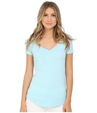 Lamade V Pocket Tee Tissue Jersey Blue Frost Women's Short Sleeve Pullover