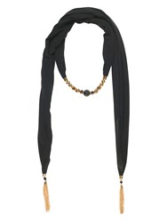 Chesca Jewelled Jersey Scarf Black