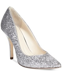 Styleandco. Style And Co. Pyxie Evening Pumps Women's Shoes Pewter Glitter