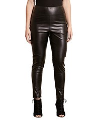 Lauren Ralph Lauren Plus Faux Leather Leggings Black