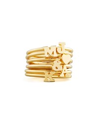 Gold Stackable Initial Ring Sarah Chloe F