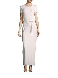 James Perse Short Sleeve Jersey Gown Heather