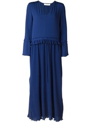 See By Chloe See By Chloe Pleated Maxi Dress Blue