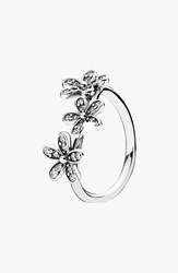 Pandora Design 'Dazzling Daisy' Ring Sterling Silver Clear