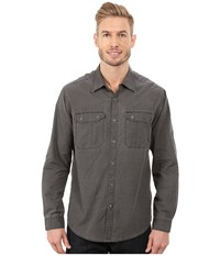 Exofficio Hallstatt Long Sleeve Top Dark Chacoal Men's Long Sleeve Button Up Gray