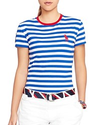 Ralph Lauren Polo Team Usa Ceremony Striped Tee Blue White