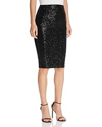 Aqua Sequined Pencil Skirt Black