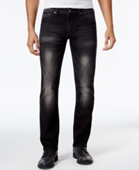 Inc International Concepts Men's Roger Slim Straight Fit Jeans Only At Macy's Black Wash