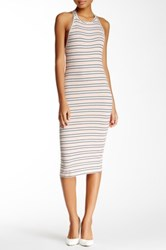 Blvd Sleeveless Knit Midi Dress Multi