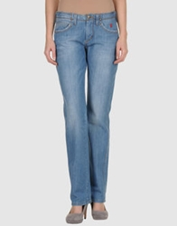 Jaggy Denim Pants Blue
