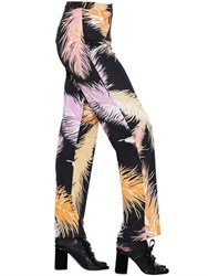 Emilio Pucci Feathers Printed Solid Jersey Pants