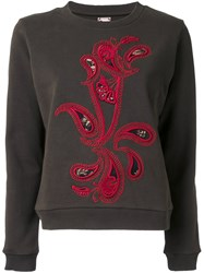 Antonio Marras Paisley Applique Sweatshirt Green