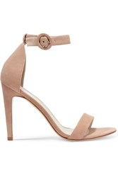 Iris And Ink Rivington Suede Sandals Pink