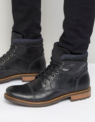 Aldo Onerillan Leather Shearling Boots Black