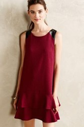 Anthropologie Leather Kissed Shift Purple