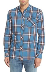 Men's O'neill 'Headliners' Plaid Long Sleeve Shirt Dark Blue