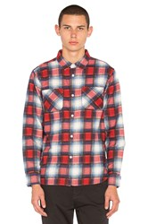 Stussy Shadow Plaid Button Down Red