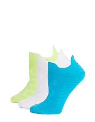 Hue Three Pack Air Sleek Socks Neon Citrus