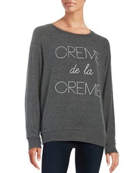 Junk Food Creme De La Creme Sweatshirt Dark Grey