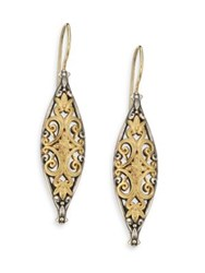 Konstantino Hebe 18K Yellow Gold And Sterling Silver Drop Earrings Gold Silver