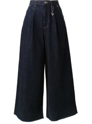 Muveil High Waisted Wide Legged Jeans Blue