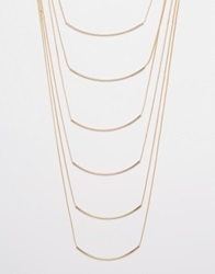 New Look Layered Slinky Necklace Gold