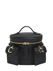 Ludlow St. Grained Leather Bucket Bag