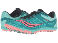 Saucony Havok Xc Spike Teal Vizi Coral Women's Track Shoes Pink