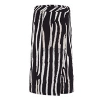 Bianca Elgar Henley Crayon Stripes Reversible Wrap Skirt Black White
