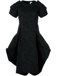 Comme Des Garcons Puff Ball Jacquard Dress Black
