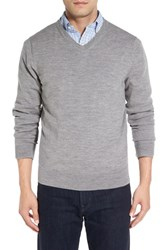 Vineyard Vines Men's 'Performance Blend' V Neck Sweater Grey Heather