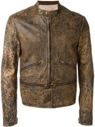 Golden Goose Deluxe Brand Distressed Jacket Brown