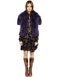 Sonia Rykiel Marabou Feather Fur Cape