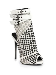 Giuseppe Zanotti Studded Platform Ankle Boot Sandals White