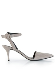 Alexander Wang Suede Kitten Heel Sandals Grey Grey