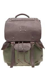 Men's Will Leather Goods 'Lennon' Backpack Green Loden Brown