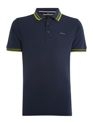Duck And Cover Acute Classic Signature Pique Polo Shirt Navy